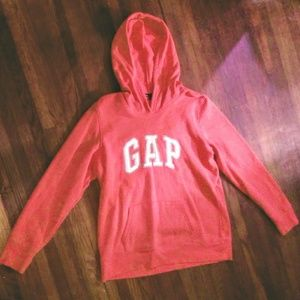 Pink Gap Pull Over Hoodie Large